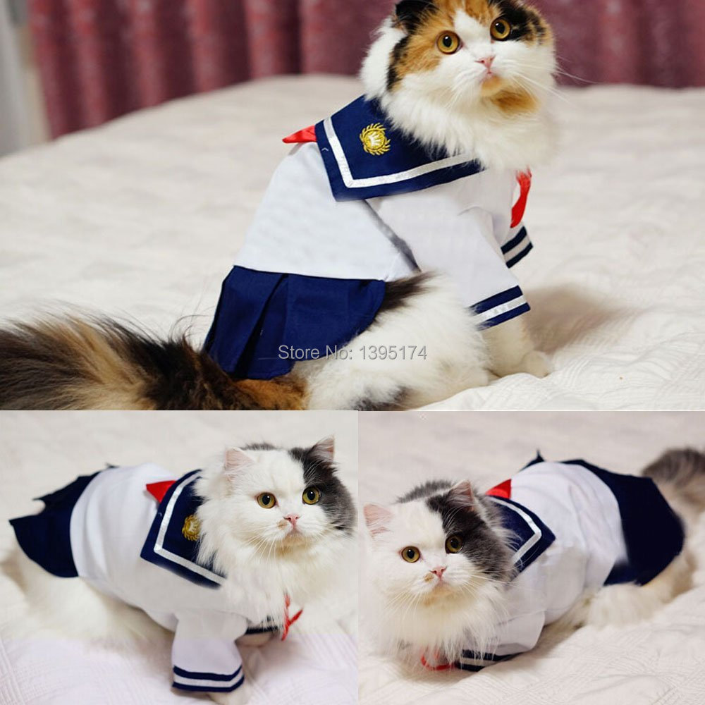 Navy Style Pet Dog Clothes Navy Costume For Small dogs Pet Sailor