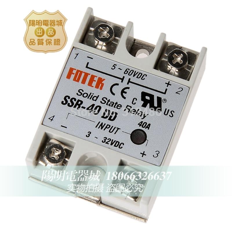 10pcs SSR 40DD input 3 32VDC output 5 60VDC FOTEK solid state relay ssr40dd