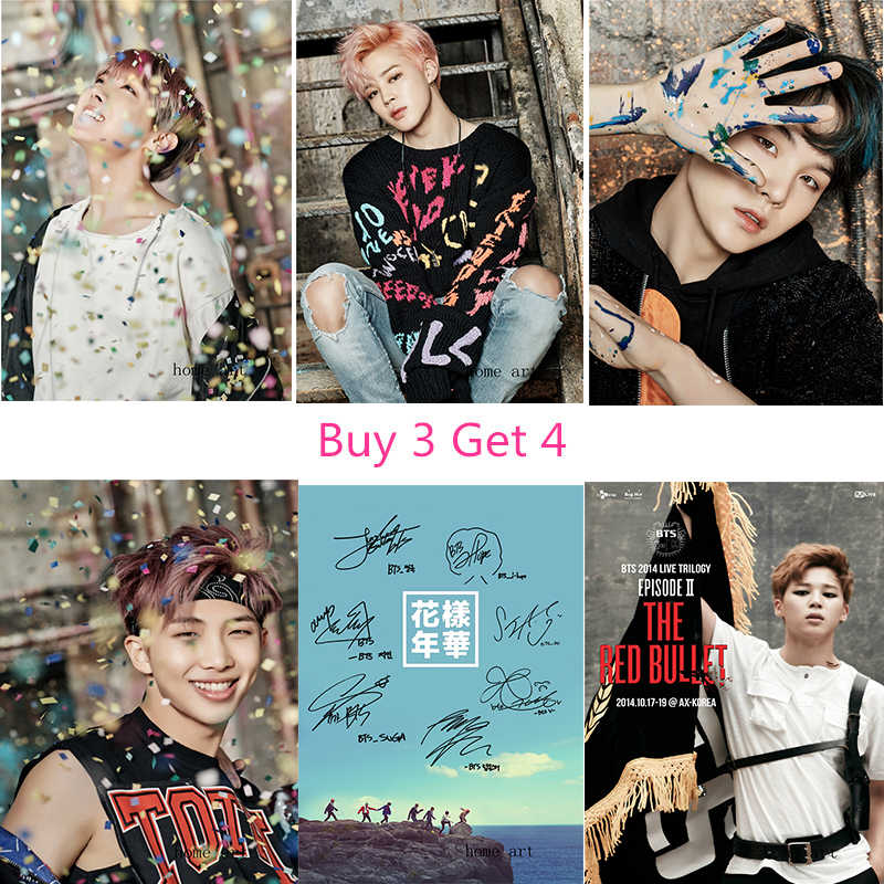BTS Korean band  Posters Wall Stickers  Decoration Good Quality Prints White Coated Paper B2