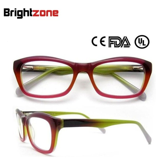 Frete Grátis Ocidental Moda High End Óculos De Acetato de Prescrição óculos de Armação oculos de grau Femininos B5001 CE FDA