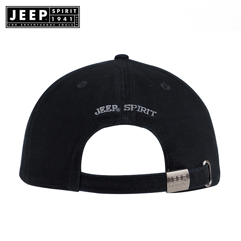 JEEP SPIRIT Brand Hot Retro Washed Baseball  Fitted Cap Snapback Hat For Men Bone Women Gorras Casual Casquette Letter Black Cap