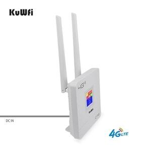Image 5 - KuWFi 300Mbps kablosuz yönlendirici 4G Wifi Wifi SIM kartlı Router yuvası ve RJ45 Port çift harici antenler ev için