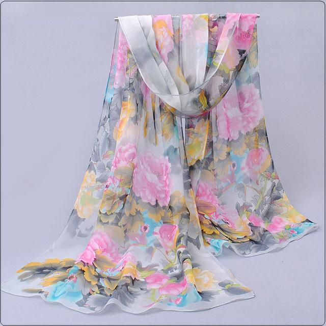 from india hot sale 2017 new women for 4 seasons scarves polka velvet chiffon bohemia flower fashion summer free shipping mdh