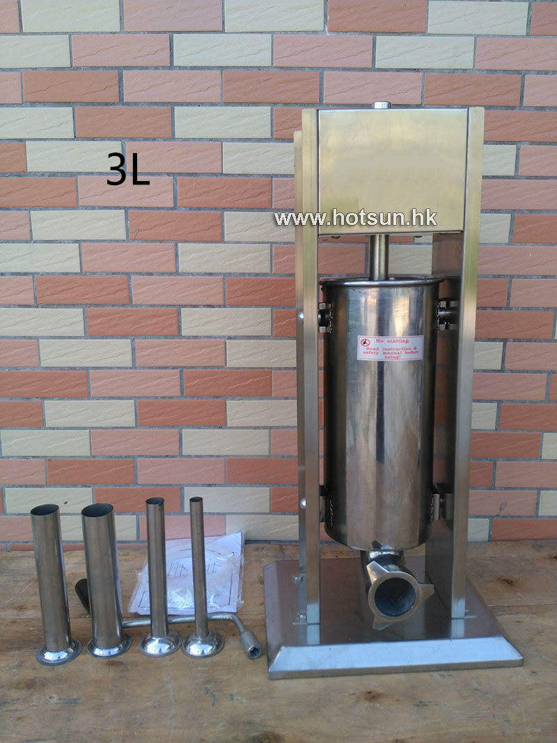 Free Shipping 3L Stainless Steel Manual Home Restaurant Sausage Stuffer Sausage Salami Maker Sausage Filler Machine economic s steel manual s series sausage filler for hotel butcher home use and hunters