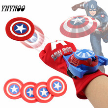 YNYNOO The Avengers Super Hero Spiderman Batman Iron Man American Capital The Hulk Glove Launchers Kids