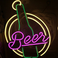Christmas decorate coffee beer shop flex neon sign