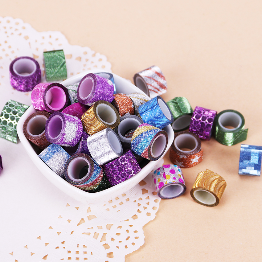 90pcs scrub mini color tapes diy decorative adhesive tape for Credence decorative adhesive
