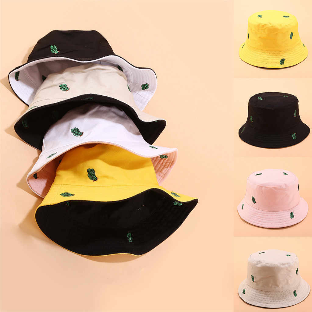 Regarder Store ♥ Men Women Printing Double-sided Wearing Visor Travel Folding Basin fishing Hat Summer Women Beach Casual hat