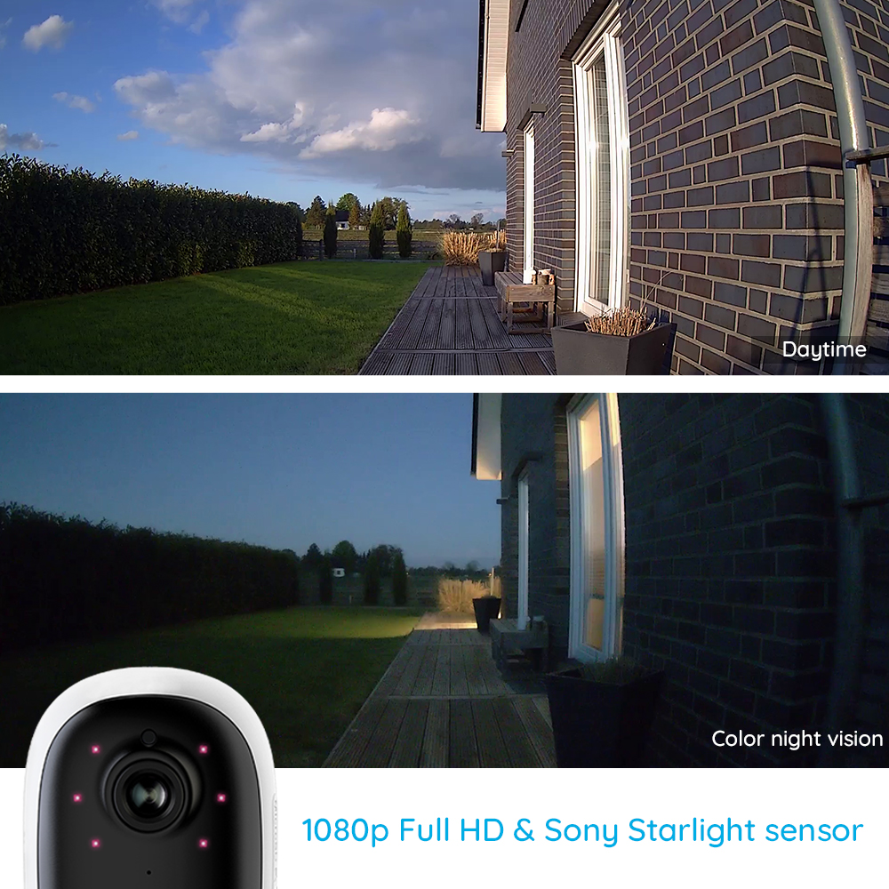 Reolink Argus 2 and Solar panel Continuous Rechargeable Battery 1080P Full HD Outdoor Indoor Security WiFi Reolink Argus 2 and Solar panel Continuous Rechargeable Battery 1080P Full HD Outdoor Indoor Security WiFi Camera 130 Wide View
