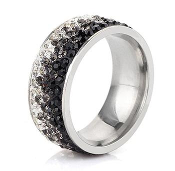 Women's Elegant Crystal Ring Jewelry Rings Women Jewelry Ring Size: 11 Main Stone Color: Gray