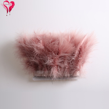 2Yards/Lot Leather Pink Natural Turkey Feather Ribbon Fluffy Marabou Feather Trim For Craft Wedding Dress Decoration Accessories цена