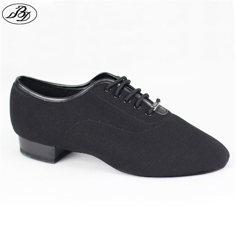 Men Standard Dance Shoes BD 317H Canvas Narrow Straight Sole Improved Heel Men Ballroom Dancing Dancesport Modern Dance Shoes canvas shoes women black red jazz shoes ballet dance shoes split heels sole sl02138b2