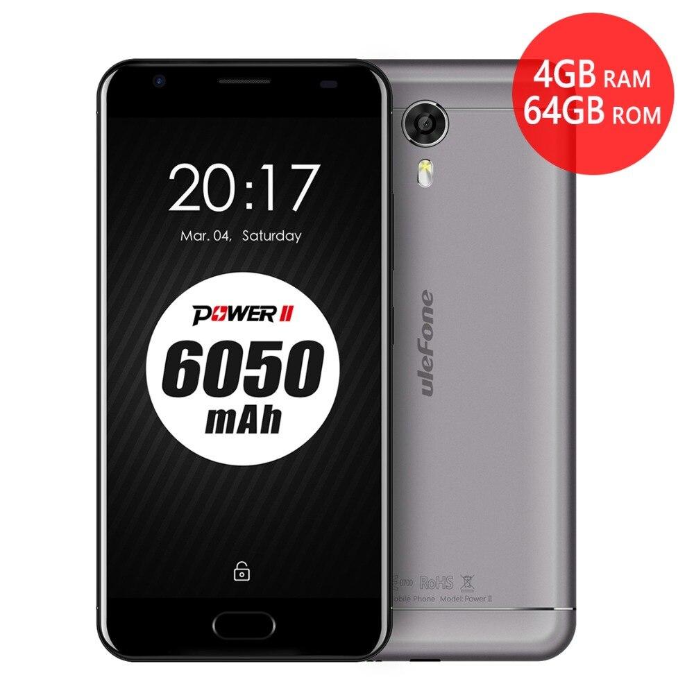 "bilder für Ulefone power 2 6050 mah große batterie 4 gb ram 64 gb rom 5,5 ""fhd 16mp android 7.0 touch id octa-core 4g lte volte smartphone"