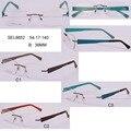 Envío gratis gafas 2016 gafas Sin Montura mujeres bolsa de metales óptica gafas gafas armacao gafas de grau femenino para las mujeres