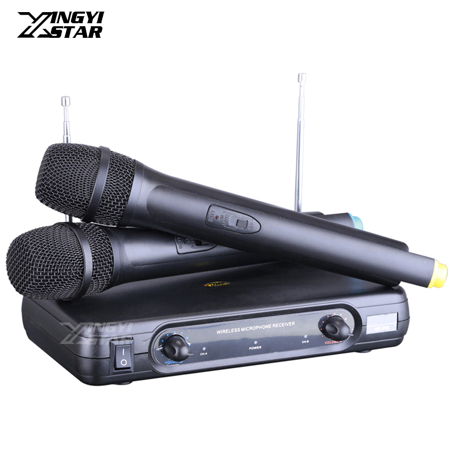 professional handheld dynamic mic vhf wireless microphone system for computer sing karaoke ktv. Black Bedroom Furniture Sets. Home Design Ideas