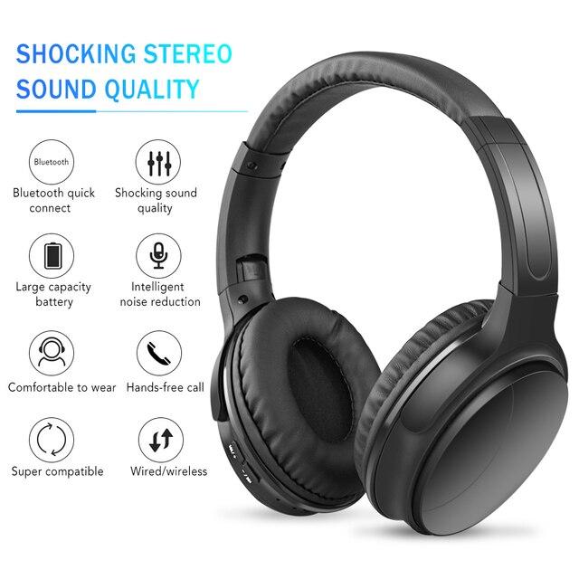 Kebidu HK02 auriculares, inalámbricos por Bluetooth 5,0, para teléfonos iPhone, Xiaomi, Huawei