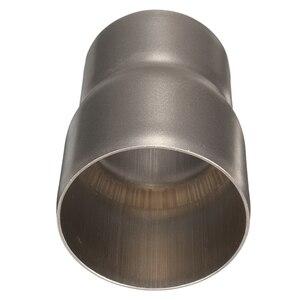 Image 2 - 1 Pcs 스테인레스 스틸 오토바이 배기 튜브 어댑터 감속기 60 ~ 51mm 3.31 인치 길이 오토바이 배기 파이프 액세서리