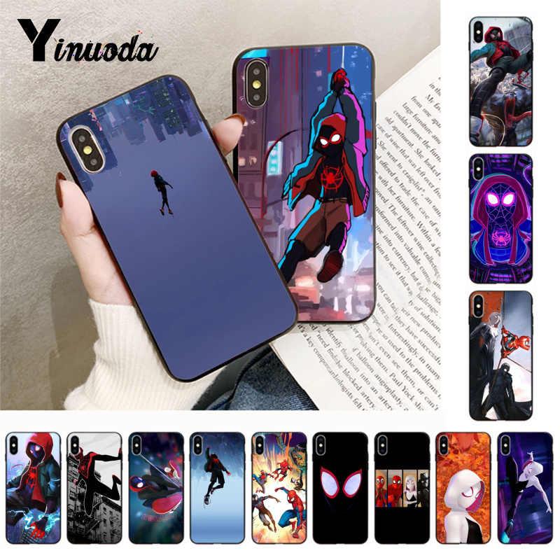 Yinuoda ספיידרמן לתוך עכביש פסוק חדש הגיע טלפון כיסוי עבור iphone 5 5s SE 6 6 s 7 8 בתוספת X XS XR XSMax coque מקרה