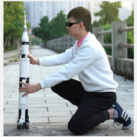 Legoed apollo saturn v 21309 satellite with Legoing vehicle rocket model building block bricks kits toy christmas gift Lepin DIY