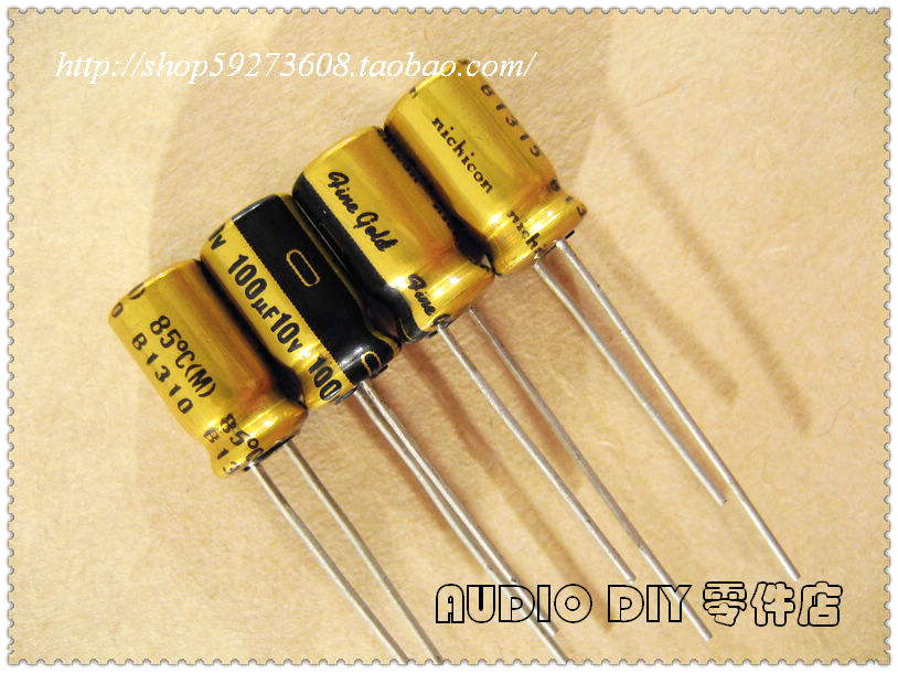 2018 Hot Sale 30PCS/50PCS Nichicon (fine Gold) FG Series 100uF/10V Audio Electrolytic Capacitors Free Shipping