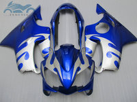 Free Customize fairings for HONDA CBR600 F4i 04 07 blue silver fairing kit CBR 600F4i 600 CBR 600F 05 06 07 2004 2005 2006 2007