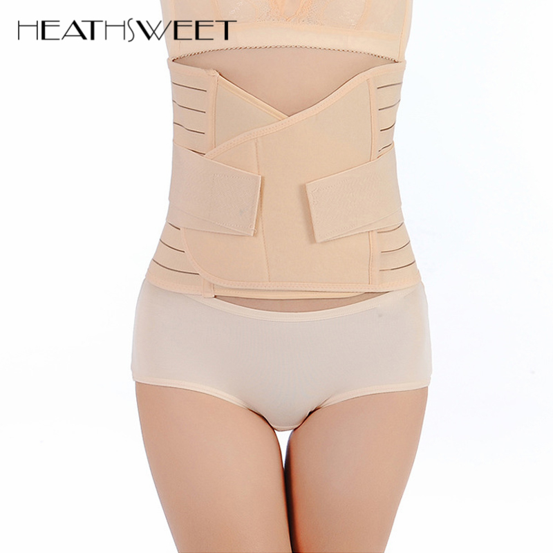 Healthsweet Women Waist Braces Supports Backache Lower Back Brace Belt Shaper Corset Support Shapewear Body Slimming Belt Belly