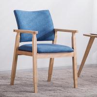 15% г. однотонные обеденный стул из дерева Nordic современный минималистский удобный подлокотник стул, письменный стол и стул офис, чтобы обсуди