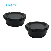 LXH 2Packs Camera Front Body Cap & Belakang Lens Cover Cap untuk Nikon F / AI Mount DSLR Fit D7500, D750, D700, D810, D800, D800E, D610