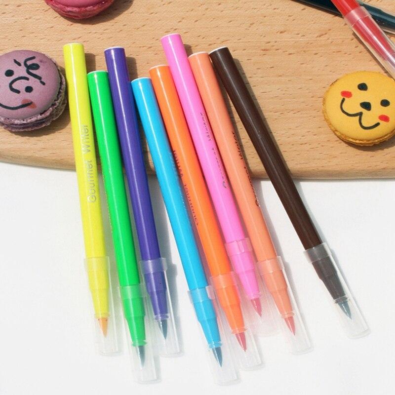 Image 3 - Pigmento comestível caneta escova alimentos cor caneta para  desenhar biscoitos bolo ferramentas de decoração bolo diy cozimento bolo  pintura gancho coloraçãoUtensílios de culinária