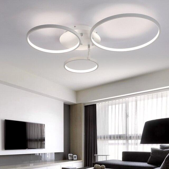 Super Cienkie Circel Pierścienie Nowoczesne Lampy Sufitowe Led Lampa