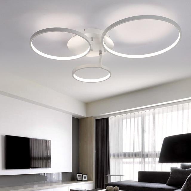 Super-dünne Circel Moderne Ringe LED Decke Kronleuchter Lampe Wohnzimmer  Schlafzimmer Moderne LED Decke Kronleuchter Leuchten