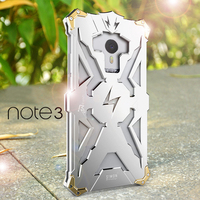 Luxury For Meizu Meilan Note 3 Back Cover Simon THOR IRONMAN Shockproof Metal Aluminium Frame Anti