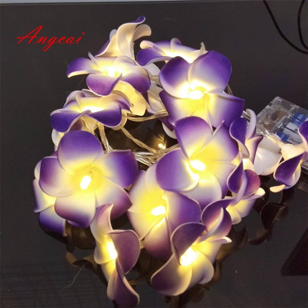 Straightforward Plumeria Flower Battery Powered String Lights Christmas Tree Hanging Ornament Wedding New Born,wedding,xmas,bedroom Decor 2/3/4m Lights & Lighting
