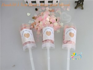 Image 3 - 10pcs/lot Heart Push Pop Confetti Poppers Wedding Baby Bride Shower Birthday Party Decoration Kids Toys Supplies