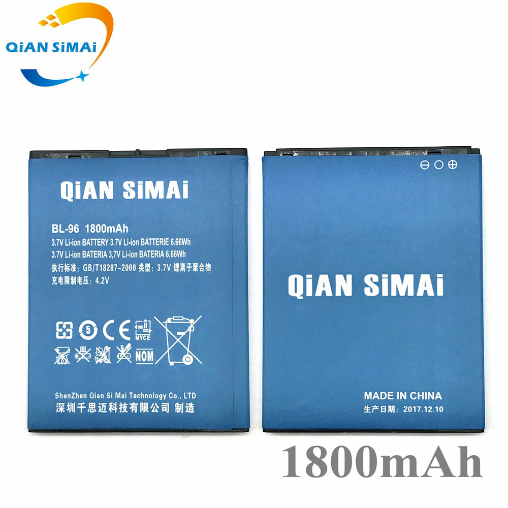 New BL-96 BL 96 1800mAh battery Replacement For Newsmy NX Newman N1 NM860 mobile phone