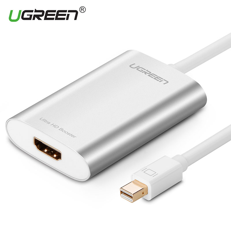 Ugreen 4k Thunderbolt Mini DisplayPort DP To HDMI Adapter Mini DP male to HDMI female Cable for Apple MacBook Air Pro iMac Mac orico mph mini dp to hdmi adapter to thunderbolt cable displayport display port for apple macbook air pro imac mac