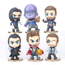 6pcs/lot Marvel Avengers Winter Solider Thanos Loki Thor Doctor Stranger Captain American Figure Model Toys for Children(China)