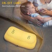 Zakoo Gravity Sensor Light Switch Lamp Induction ON OFF Modeling LED Table Lamp Night Light USB