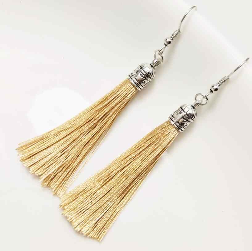Tassel Earrings Bohemian Alloy Flower Pattern Dangle Drop Earrings For Women Gifts