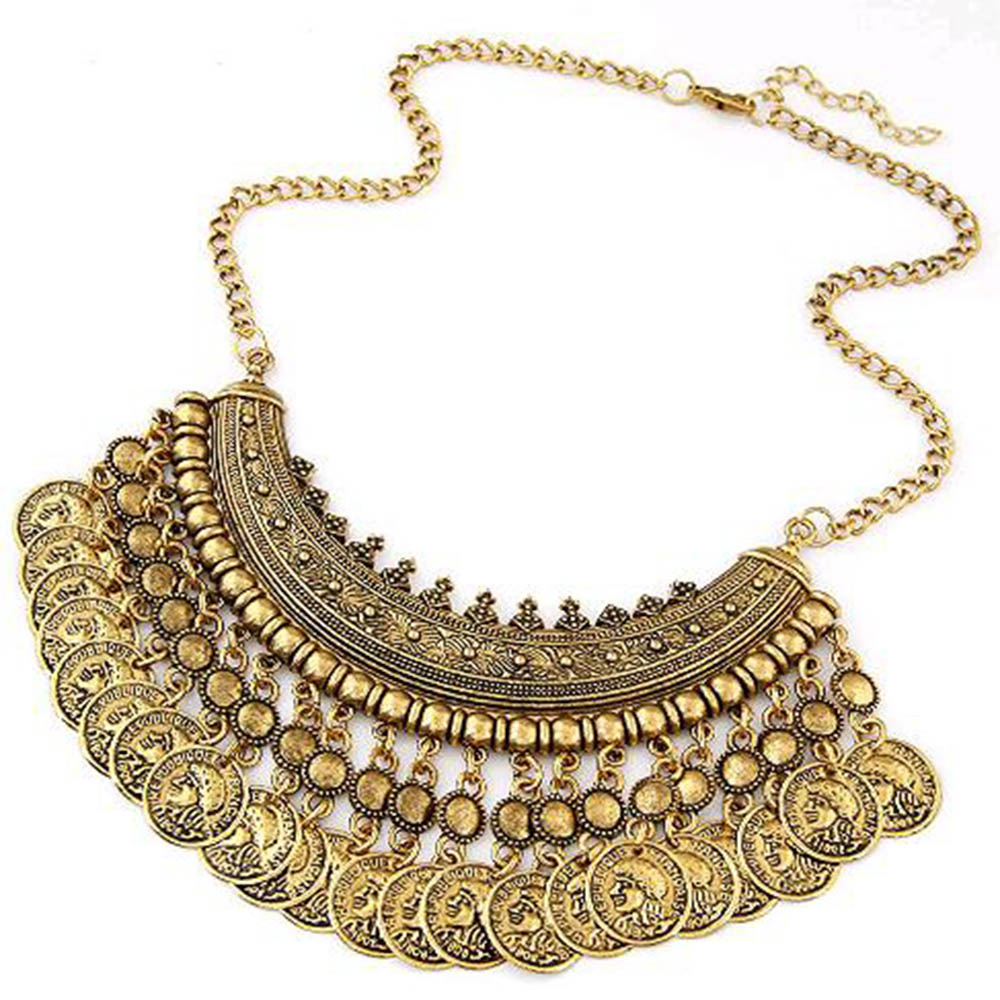 IPARAM 2016 Bohemia Statement Coin Necklace and Female ...