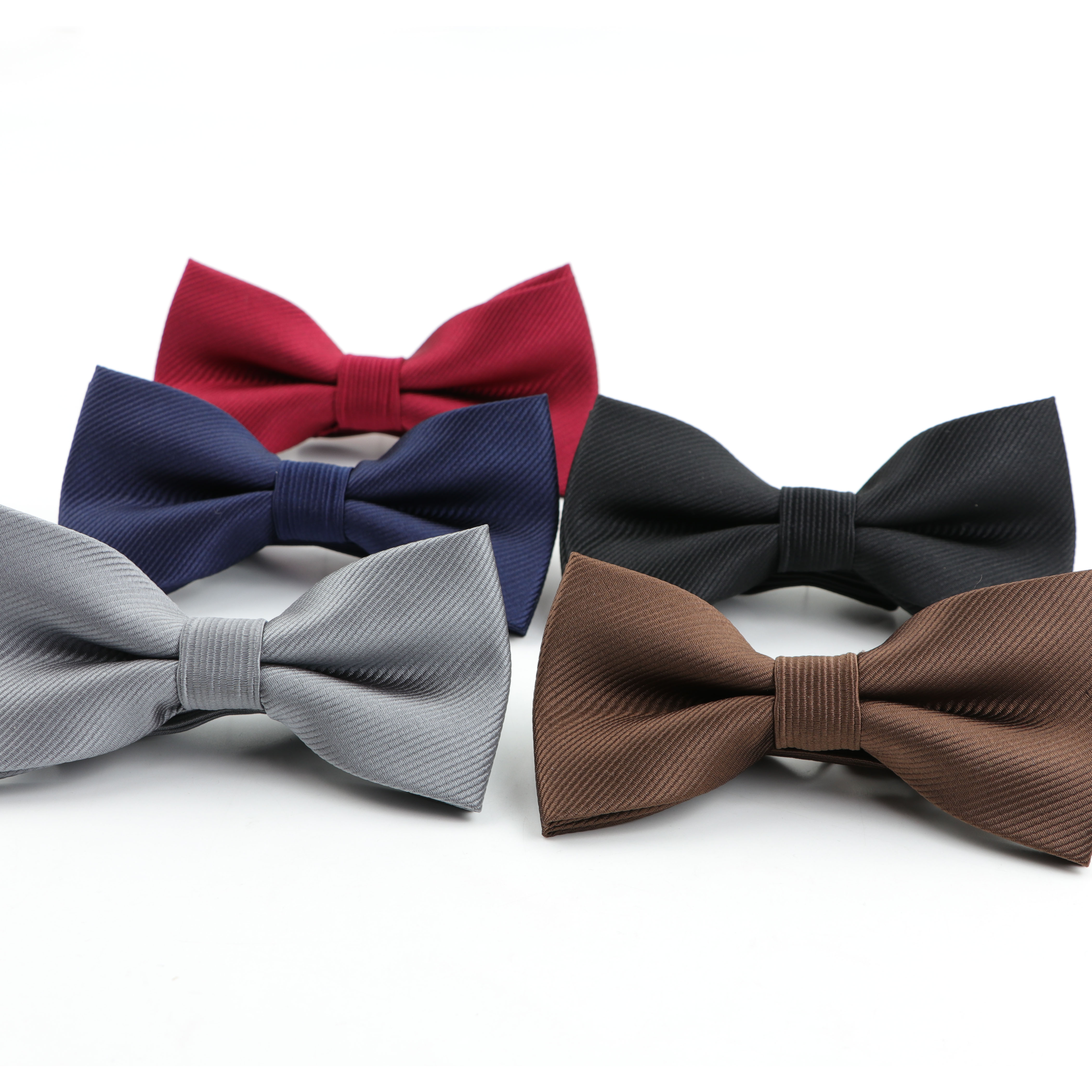Classical Solid Fashion Bowties Groom Men Colorful Striped Cravat Grid Male Marriage Butterfly Wedding Bow Ties