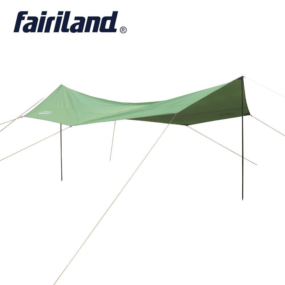 Grand abri solaire 16.4X16.4X8.2ft imperméable hamac sports de plein air auvent bâche pour camping parasol tente bâche plage pique-nique tapis