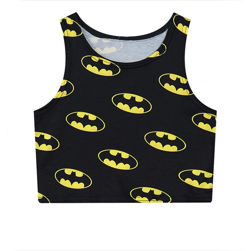 bdce444d288b5c Alisister 2019 black sexy women vest cratoon Batman 3d crop tops harajuku  fashion hot cropped casual