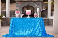ShinyBeauty Square Tablecloth Turquoise 60x120 Inch Sequin Tablecloth Glitter Table Linens Sparkly Wedding Table Overlays 928k