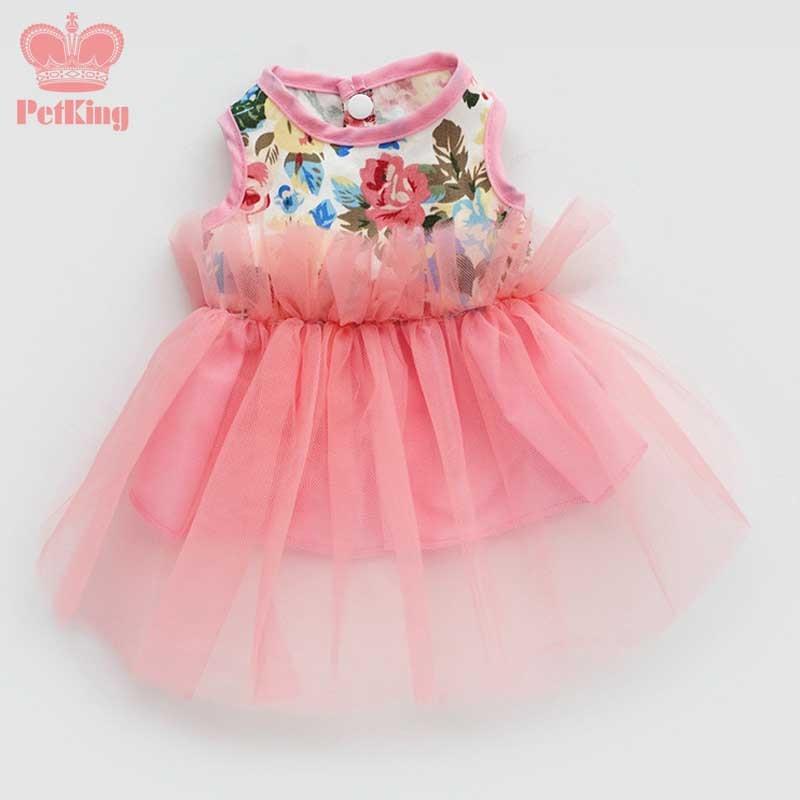 Verano rosa cachorro de lujo Dress pet cat Dog Tutu falda princesa ...