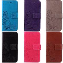 New High Quality Multi Colors Luxury PU Leather Phone Case Cover For Sony Z2 Z3 Z4 Z5 MINI Book Style Wallet Clover Phone Case(China)