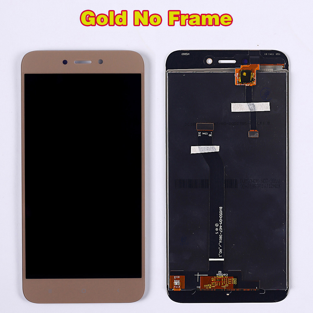 HTB1zP2eUmzqK1RjSZFHq6z3CpXac 100% Tested LCD Display For Xiaomi Redmi 5A 5.0 inch Digitizer Sensor Glass Assembly touch screen frame with Free Tempered Glass