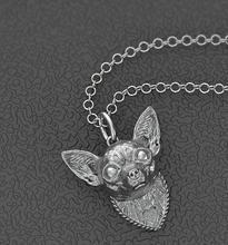 Ожерелье чихуахуа металлическая подвеска в виде собаки с золотым