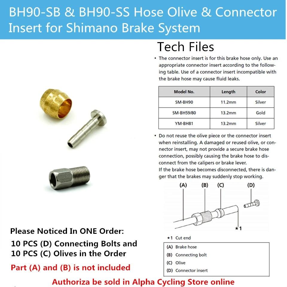 BH90 Bike Bicycle Brake Hose Hydraulic Disc Brake Olive Connector Insert Hot