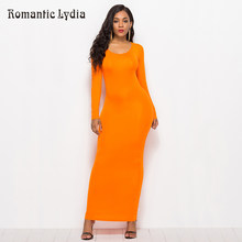 Casual Bodycon 2018 Summer Dresses Women Elegant Elastic Slim Straight Long Sleeve Maxi Dress Plus Size(China)